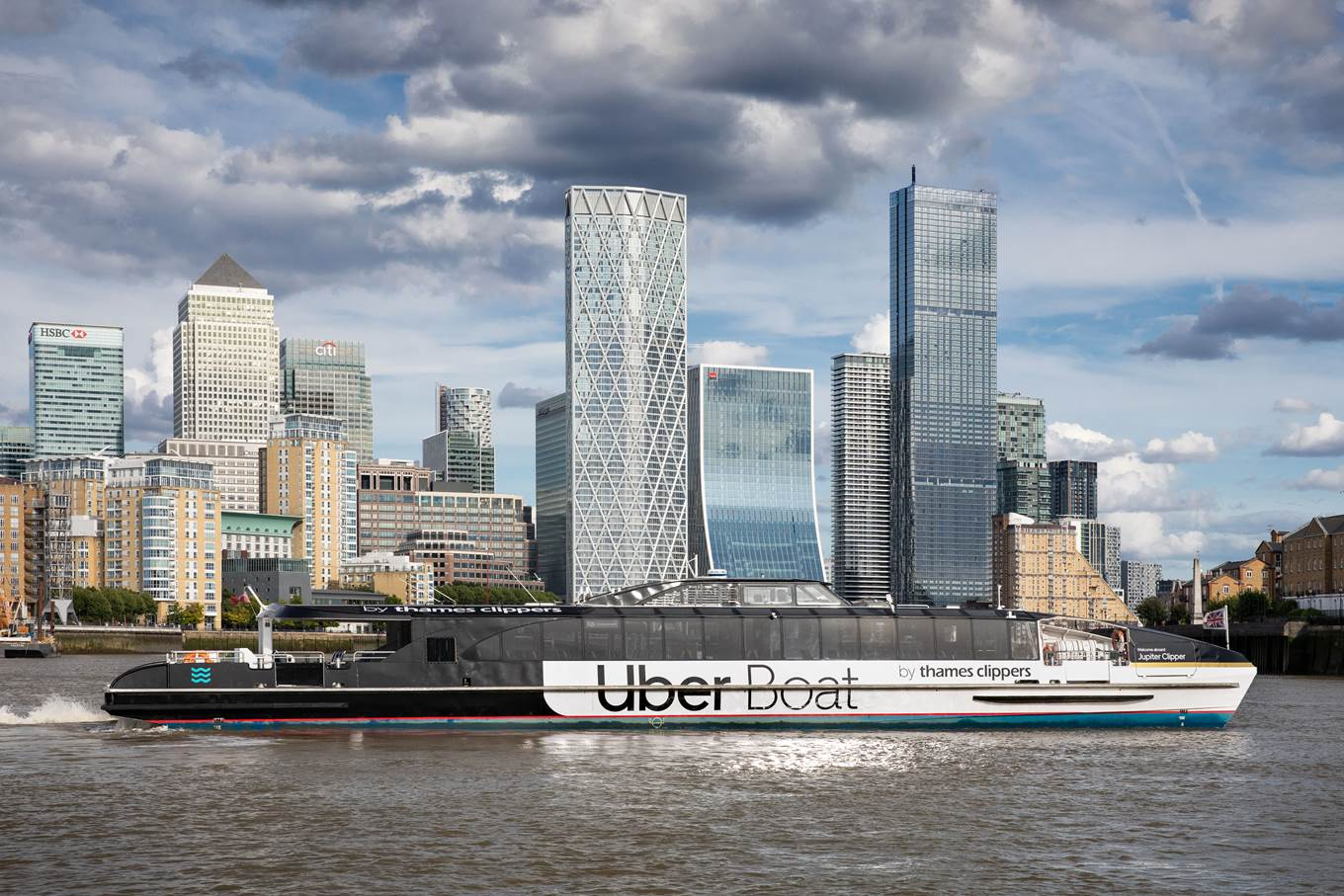 Uber Boat By Thames Clippers at Canary Wharf